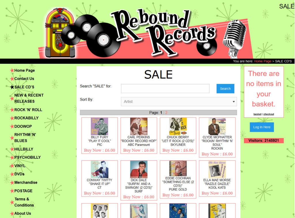 Rebound Records - Rock 'n' Roll CDs