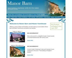 Manor Barn & Farmhouse Bed & Breakfast in rural North Norfolk