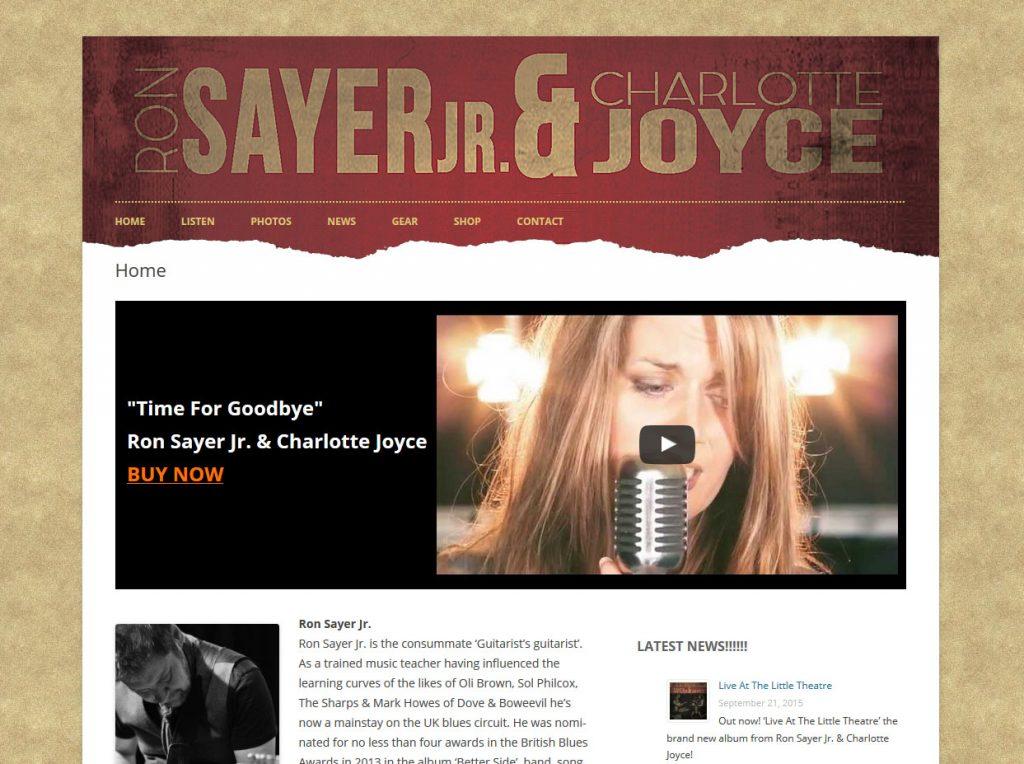 Ron Sayer and Charlotte Joyce