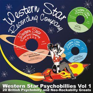 "WSRC013 - ""Western Star Psychobillies Vol.1"" compilation CD album"