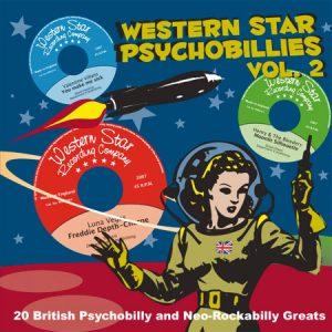 "WSRC019 - ""Western Star Psychobillies Vol.2"" compilation CD album"