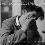 """WSRC121 - Ten Bob Millionaires """"we regret to inform you"""" CD album"""