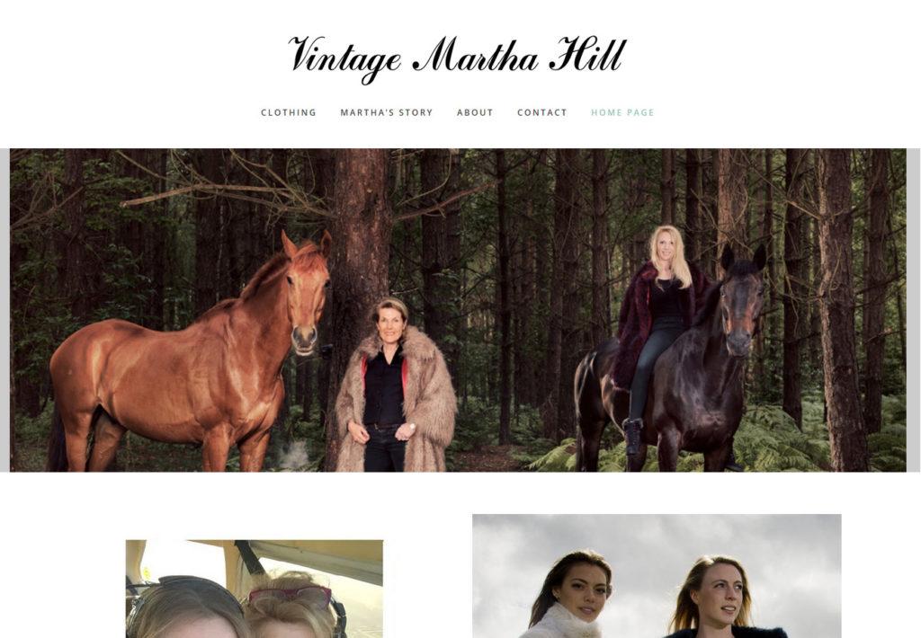 Vintage Martha Hill Clothing Website