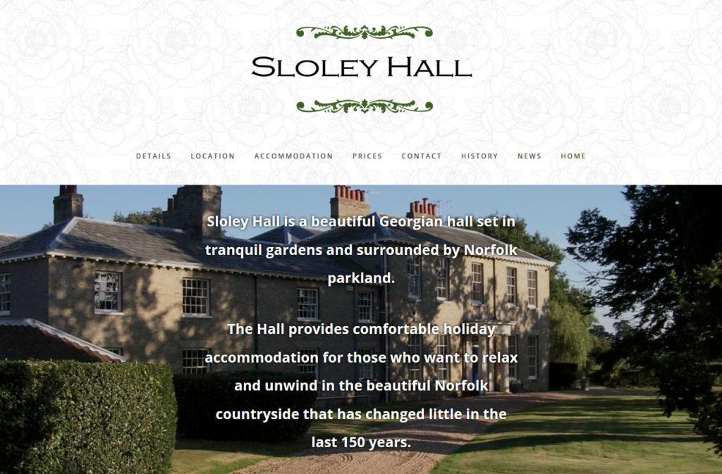 sloley hall website