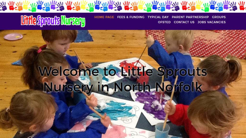 Little Sprouts Nursery, Norfolk screen