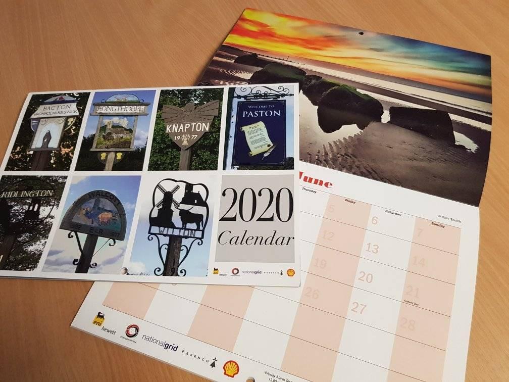 Bacton gas Site Calendar 2020