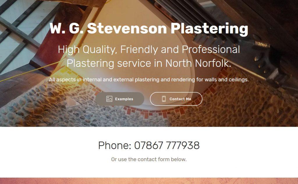W. G. Stevenson plastering