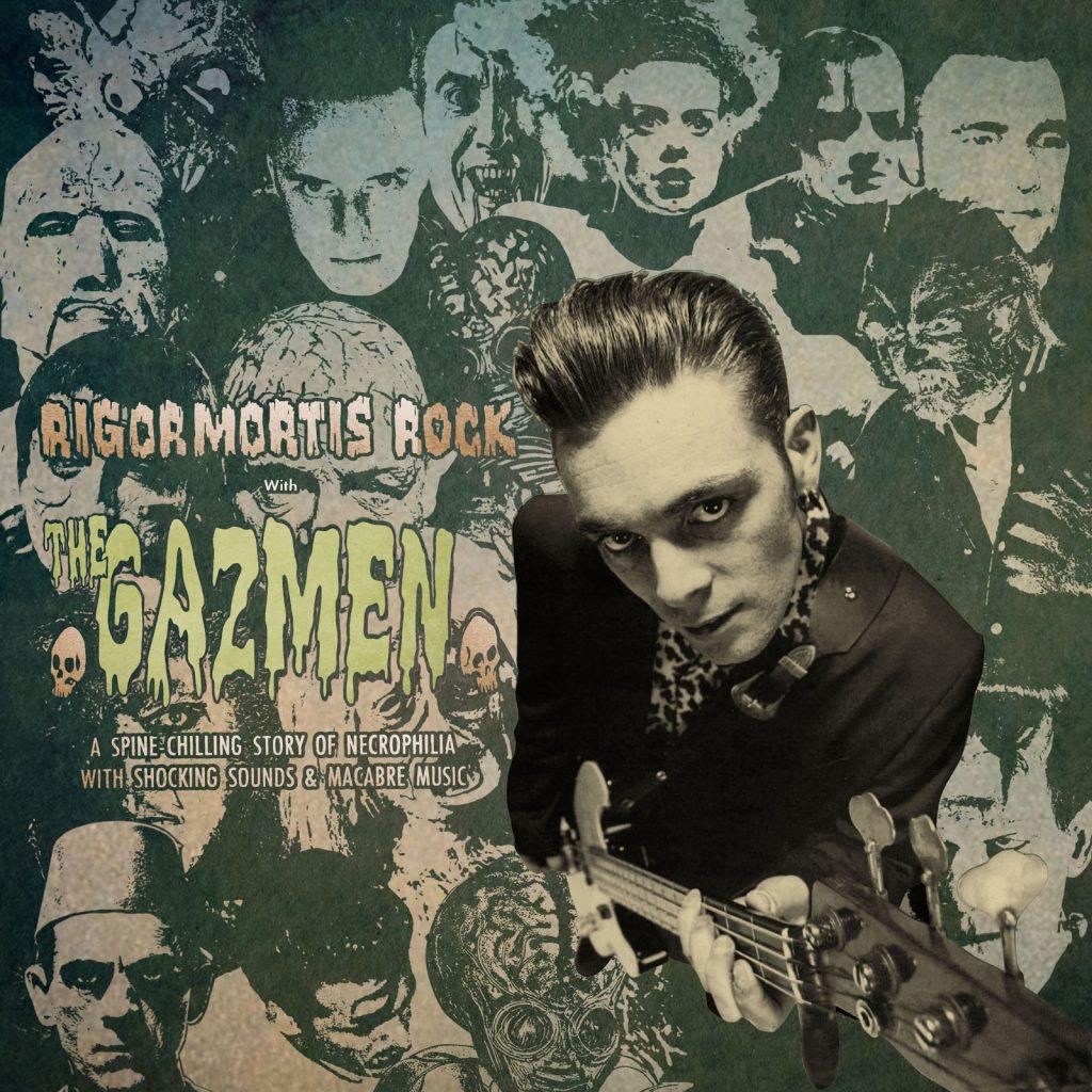 The Gazmen - Rigormortis Rock vinyl LP on trophy Records