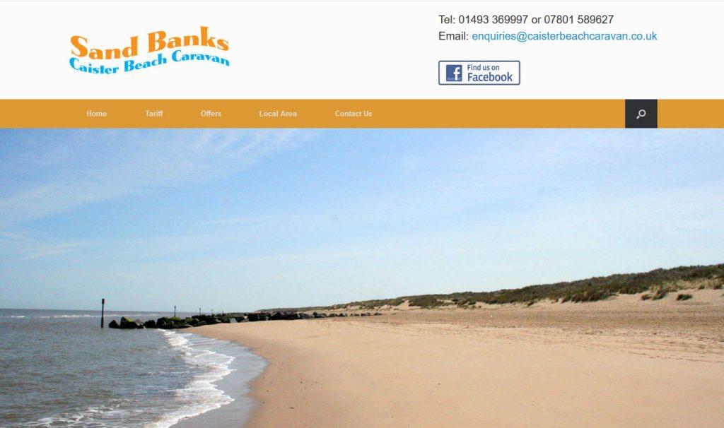 Sand Banks Caister Beach caravan